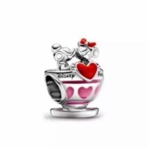 Disney Mickey Minnie Mouse Love & Kisses Charm